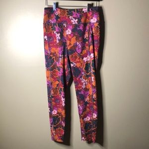 Free people high rise floral athletic leggings
